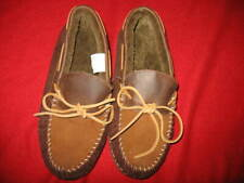 J.CREW, MEN'S SUEDE SHEARLING SLIPPERS, SIZE: 10, COLOR: 2-TONE BROWN, NEW, VALU