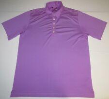 Mens Adidas Climacool Short Sleeve Ss Golf Polo Shirt Large Purple Tennis