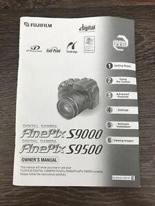 Owner's Manual for Fujifilm FinePix S9000 & S9500 Camera w/ Quick Start Guide