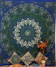 Indian Cotton Star Elephant Print Bedding Bedspread Double Tapestry Wall Hanging