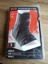 NEW McDavid 195 Level 3 Black Ankle Brace with Straps Size Small