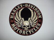 "Harley-Davidson  ""Flying Skull"" Button Embossed  Ande Rooney Sign 14"" Diameter"
