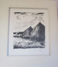 VLAMINCK Les MEULES DE FOIN  Lithographie  numéroté30/50 et signé au crayon
