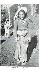 Sikkim,India,Nepal,Tibet,Pretty Sikkim Peasant Girl,Ethnic,c.1910