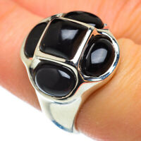 Black Onyx 925 Sterling Silver Ring Size 7 Ana Co Jewelry R48954F