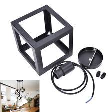 American Barlight Rustic Industrial Cube Metal Pendant light Loft Ceiling LampS^