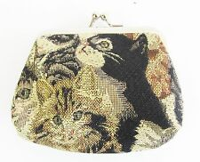 Signare Cats & Kittens Single Section Tapestry Coin Purse