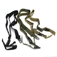 Tactical Three Point Rifle Gun Sling Strap System Airsoft 3 Points Gun Sling