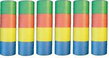 6 rouleaux de Serpentins traditionnel 4 couleurs cotillon carnaval saint sylvest