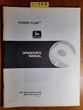 John Deere Power Flow 38 48 Mower Deck Owner Operator Manual OMM112377 J0 9/90