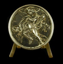 Medaille Putti angelot musicien muni d'une lyre argent angel XIX e silver Medal
