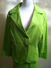 Bandolino Green 2 Button Blazer Skirt Suit Size 12 100% cotton Breathable
