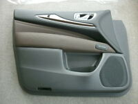 2013 Infiniti JX35 Left Front Dark Brown Leather Door Trim Panel 809A1-3JA3C OEM