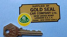 Lotus Gold Seal Car Company London Distribuidor pegatina 70mm Elise Elan Esprit Elite