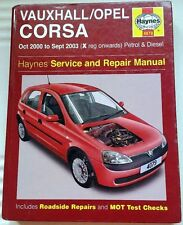 Haynes Manual no 4079 - Vauxhall Corsa 00-03 Petrol & Diesel X Reg. Onwards