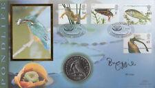 Benham Coin 2001 FDC Pond Life Signed by Bill Oddie