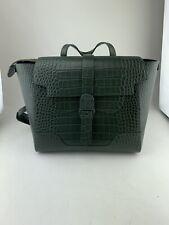 SENREVE MAESTRA Olive Crocodile Midi Backpack Bag
