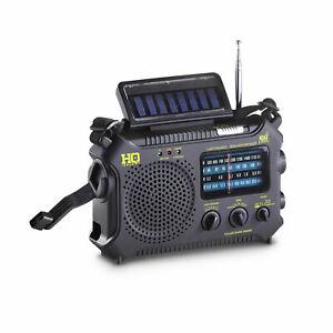 HQ Issue Multi Band Dynamo/Solar Powered Emergency NOAA Weather Radio w/ LED