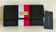 NEW! TOMMY HILFIGER BLACK RED CONTINENTAL CHECKBOOK CLUTCH PURSE WALLET $45 SALE