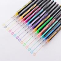 16 Colors Water Colored Gel Pen Fluorescent Ink Drawing Pen School Stationery