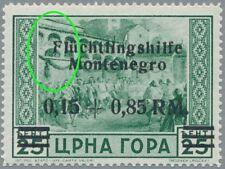 Montenegro Mi.Nr. 22 I Aufdruckfehler, postfrisch, geprüft