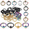 10pcs Captive Bead Ring Ball Hoop Eyebrow Nipple Nose Lip Earrings Body Piercing