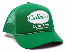 Retro Green Printed Callahan Auto Parts Green Sandusky Ohio Adult Curved Hat Cap