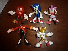 RARE bundle Sonic bendy figure toy playset Eggman Tails Amy Rose Knuckles Sega