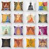 BG_ Indian Elephant Ganesha Buddha Waist Cushion Pillow Case Cover Sofa Home Dec