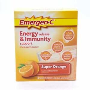 Emergen-C Immune Support with Vitamin C, Zinc Antioxidants, 15 nutrients Orange