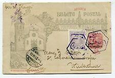 Mozambique Bilhete Postal to Winterthur Switzerland 1902 see scans