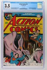 Action Comics #68 - DC 1944 - CGC 3.5 - 2nd App Susie Tompkins! Hitler Cameo!