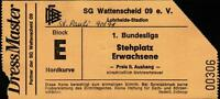 Ticket BL 90/91 SG Wattenscheid 09 - FC St. Pauli