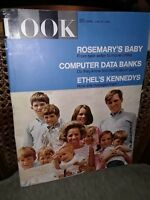 LOOK MAGAZINE JUNE 25 1968 ROSEMARYS BABY COMPUTER DATA BANK ETHEL KENNEDY