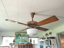 100 YEAR OLD GILDED COPPER HUNTER C17 ANTIQUE ELECTRIC 52 CEILING FAN-VINTAGE-