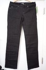Eileen Fisher Organic Cotton Stretch Straight Jean Black size 14 Orig$158 NWT