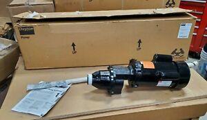 Dayton 32V138 3/4 HP 450 Max RPM 115-230V Bung Entering IBC Mixer