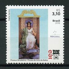 Brazil 2018 MNH Bahia Museum of Art Mercosul 1v Set Museums Paintings Stamps