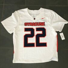 """New listing New Nike Syracuse Orange #22 Lacrosse Jersey LG retail $110 White """"SYRACUSE"""""""