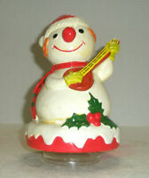 "Vintage BERMAN AND ANDERSON Snowman Music Box Plays ""Frosty The Snowman"""