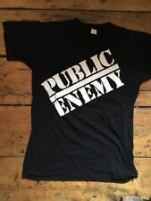 VINTAGE PUBLIC ENEMY T-Shirt. ORIGINALE. 1988. DEF JAM RECORDS