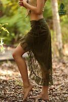 Festival Pixie Skirt, Gypsy Lace Fairy Boho Elven Burlesque Bohemian High to Low
