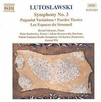 dam Kruszewski - Lutoslawski: Symphony No. 3; Paganini Variations; [CD]