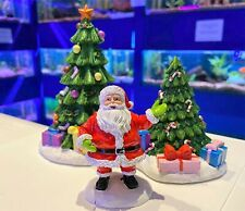 Christmas Aquarium Fish Tank Decorations - Santa Claus   Xmas Tree