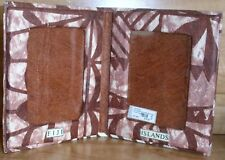 Tabletop Double Photo Frame FIJI Islands Cush Tongan Print Tapa Holds 2 Photos