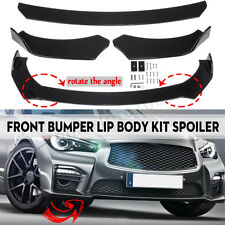 Black Front Bumper Lip Spoiler Wing Body Kit For Infiniti Q50 Q60 Q70 G25 G37