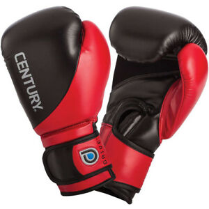 Century Youth Drive Hook and Loop Training Boxing Gloves - 8 oz. - Black/Red