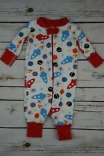 Hanna Andersson Toddler Size 0-6 mo Red White Space Pattern One Piece body suit