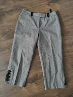 Houndstooth cropped trousers  Autograph @ M&S size 10 uk wool cashmere blend