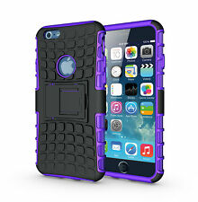 For iPhone 6 6s Purple Heavy Duty Strong Tradesman Durable Case Cover Stand